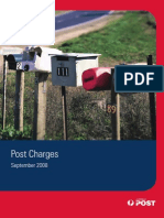 Australia Post Charges September 2008