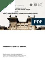 PROGRAMMA WORKSHOP DI PROGETTAZIONE ARCHITETTONICA 10-12 aprile 2015, Salsomaggiore Terme, Palazzo dei Congressi