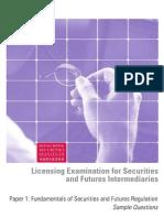 Paper 1 - Fundamentals of Securities and Futures Regulation
