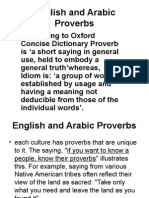 English Versus Arabic Proverbs