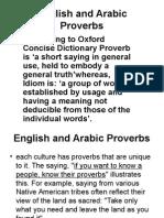 English Versus Arabic Proverbs