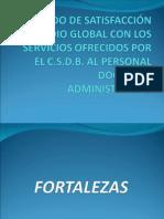 Grado de Satisfacción Promedio Global Con Los Servicios1