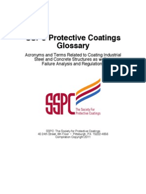 SSPC Glossary 2011 | Abrasive | Clean Water Act