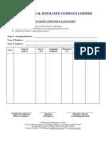 Out Patient Claim Form