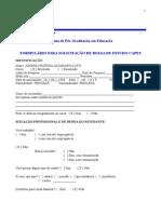 Formulario Selecao Bolsas 2015