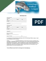 Walleye League Application 2015