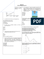 Miniprueba Relatividad basica  y Algo Mas