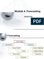 Methods of Forecasting in a Manufacturing Company