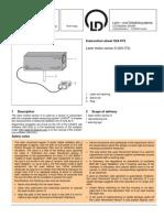 Instruction Sheet 524 073