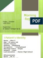 Morning Report 11 October 2012