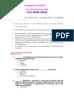 Princilpes of Managemefsdnt - MGT503 Fall 2006 Quiz 03