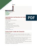 Receitas de Santa Catarina