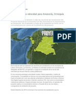 Amazonia Colombiana, Internet. Proyecto