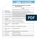 Project Dissertation Report Schedule for Mbaiii-2014-Final