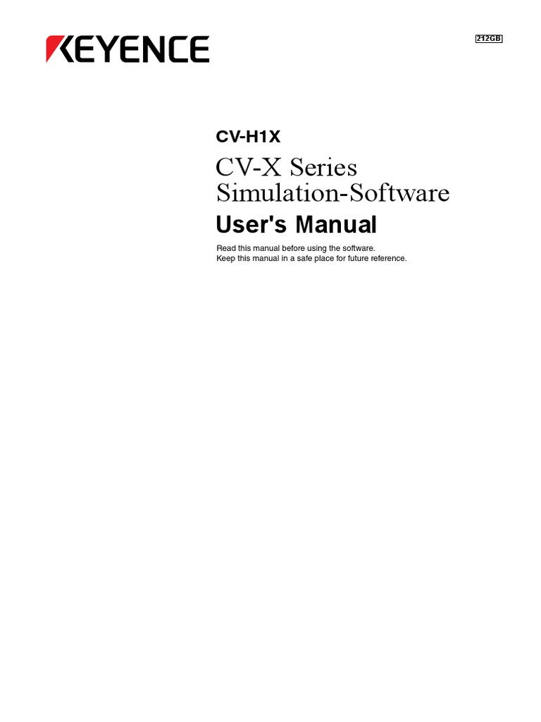 CV X Series Simulation Software | Installation (Computer Programs