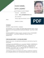 Curriculum de Hugo Daniel
