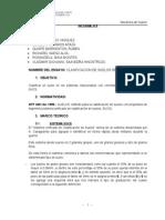 INFORME N° 5 CLASIFICACION DE SUELOS POR SUCS