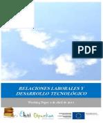 RELACIONES LABORALES Y DESARROLLO TECNOLOGICO