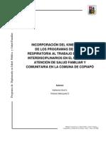 Incorporacion Del Kinesiologo Al Equipo
