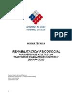 Rehabilitación Psicosocial para PSD Psíquica