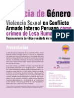 Violencia sexual en conflicto armado interno peruano