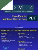 HDM-4 Caso Estudio - Mantener Camino Pavimentado