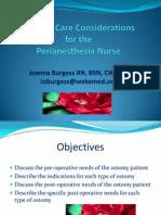 Perianesthesia Nurses Ostomy Talk