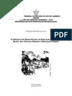 A Influência de Élisée Réclus Na Educação Operária No BR Das Ciências Naturais à Educação Integral