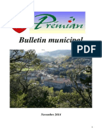 Bulletin Municipal Prémian Novembre 2014