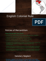 English Colonial Rule