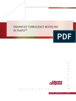 Enhanced Turbulence Model in FloEFD