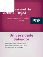 Hemogasometria Arterial (HGA)