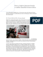 Ativistas Pedem a Órgãos Internacionais empenho por uma Mídia Mundial Democrática