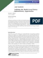 Conceptualising the Multi-Level Party - Moon y Bratberg