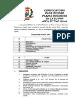 Convocatoria Para Ocupar Plaza Docensia 2014 I - KDT 1er. Año