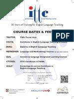 ITTC Dates Fees