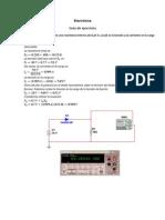 Guía de ejercicios Diodos y circuitos con Diodos