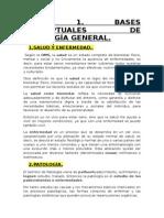 TEMA 1. Bases Conceptuales de Patologia General