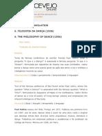 Filosofia Da Dança- Paul Valéry