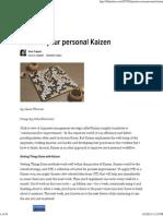 Practice Your Personal Kaizen