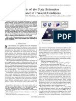 Analysis of the State Estimation Performance in Transient Conditions