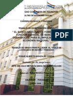 El Banco Nacional de Fomento, su función de Banca de Desarrollo en el Paraguay