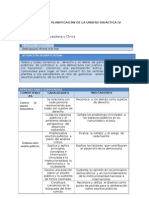 FCC - Planificación Unidad 4 - 4to Grado