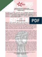 Denuncia Pública JUVENTUD REBELDE - 4 de Abril de 2015