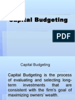 Fin 501 Capital Budgeting