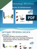 Jaringan Wireless Topologi AdHoc vs Infrastruktur