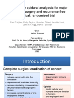 Perioperative Epidural Analgesia for Major Abdominal Surgery And