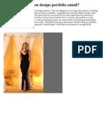 What Does a Fashion Design Portfolio Entail