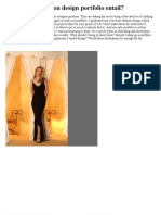 What Does a Fashion Design Portfolio Entail