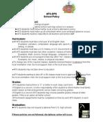 Afs - Afs-gps School Policy